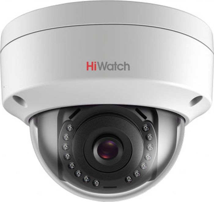 IP видеокамера Hiwatch DS-I102, 1252461, 2,8 мм ip камера hiwatch ds i122 4 mm 1 3мп уличная купольная мини ip камера ик подсветкой до 15м 1 3 cmos матрица объектив 4мм угол обзора 73 1° ме