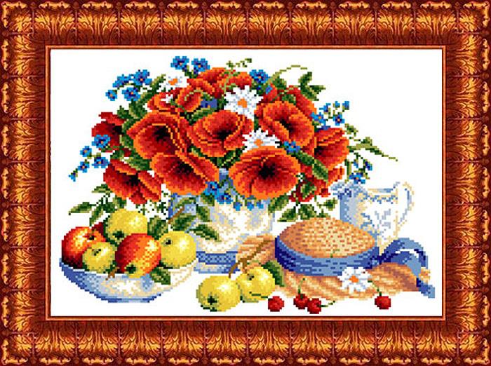 Фото - Набор для вышивания крестом Каролинка Летние дары, кткн144(р), 23 х 30 см канва с рисунком каролинка триптих икона для вышивания бисером или крестом 40 х 23 см кби 3002 ж