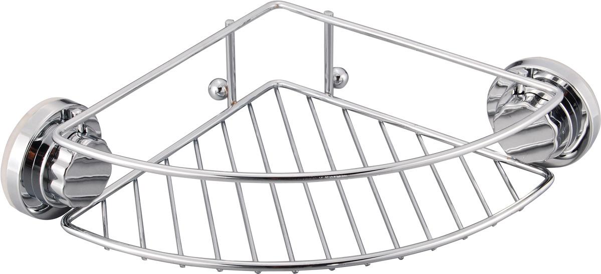 Полка-решетка для ванной Fora Atlant A035, серебристый полка для ванной комнаты fora triumf на присоске t033 серебристый