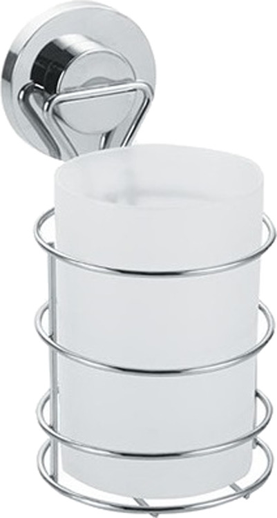 Стакан для ванной комнаты Fora Atlant A044, серебристый крючок для ванной fora triumf на присоске t053 серебристый