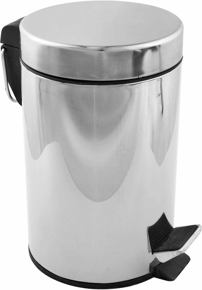 Ведро Fora H102 для мусора, хром, 5 л корзина для мусора umbra woodrow 7 5 л эспрессо