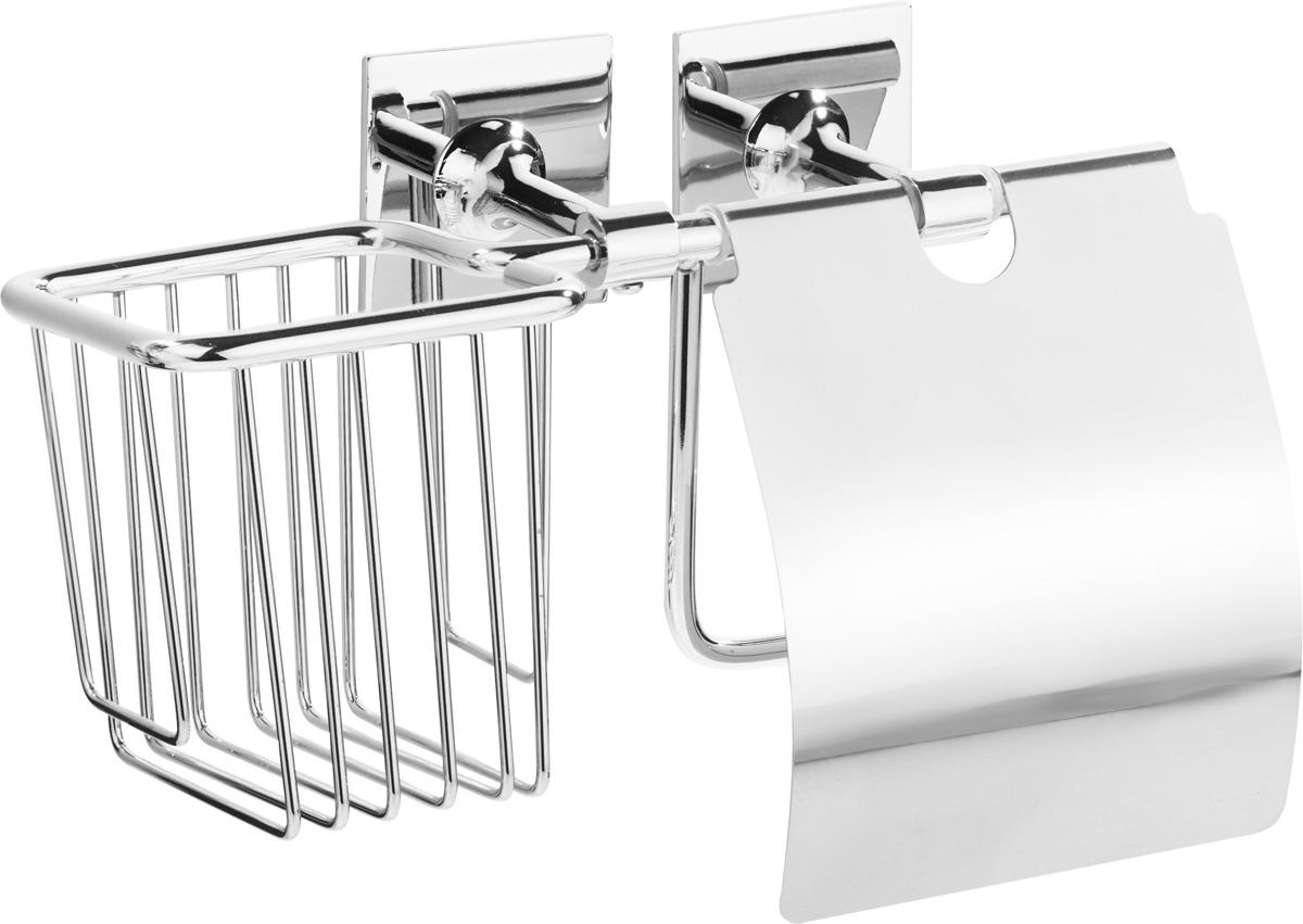 цена на Держатель для туалетной бумаги и освежителя Kleber Expert KLE-EX045, серебристый