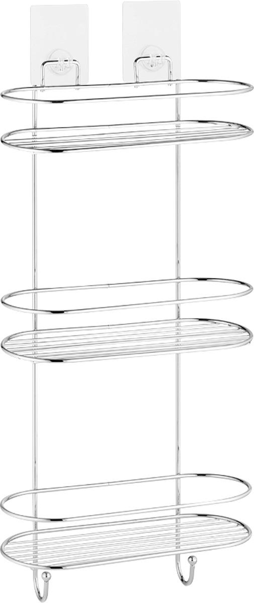 Полка для ванной комнаты Kleber Lite KLE-LT054, серебристыйKLE-LT054Полка прямая трехъярусная крепится на композитное силиконовое крепление. Обезжирьте место установки мыльным раствором. Удалите защитную пленку с задней стороны и прижмите к стене. Крепление многоразовое и не оставляет следов. Выдерживает 4 кг. Продукция бренда KLEBER сделает вашу ванную комнату красивой и функциональной.