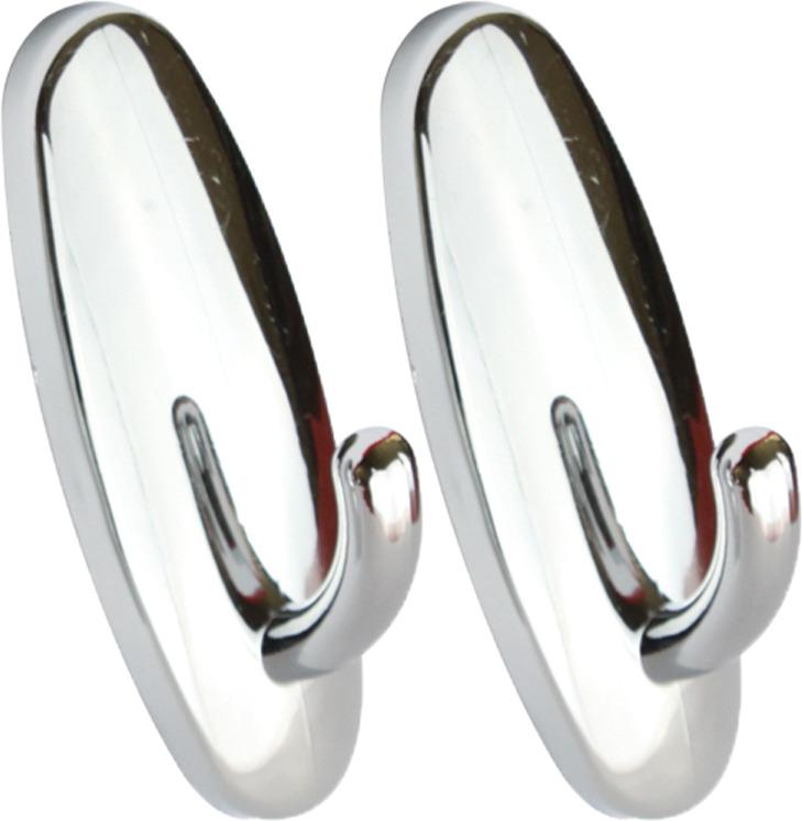 Набор крючков для ванной Kleber KLE-SG001, серебристый, 2 шт набор крючков держателей viva 2 шт