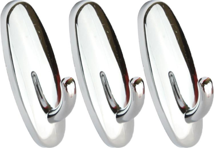 Набор крючков для ванной Kleber KLE-SG003, хром, 3 шт стоимость