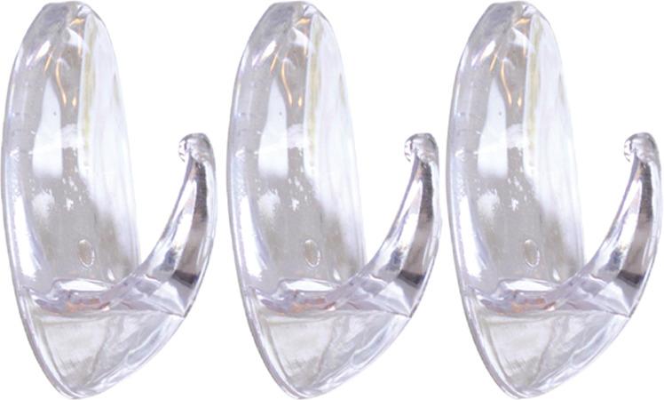Набор крючков для ванной Kleber KLE-SG007, прозрачный, 3 шт леггинсы женские pompea leggings kleber fashion цвет animal темный сафари 90768958 размер 3 4 3 4 m l