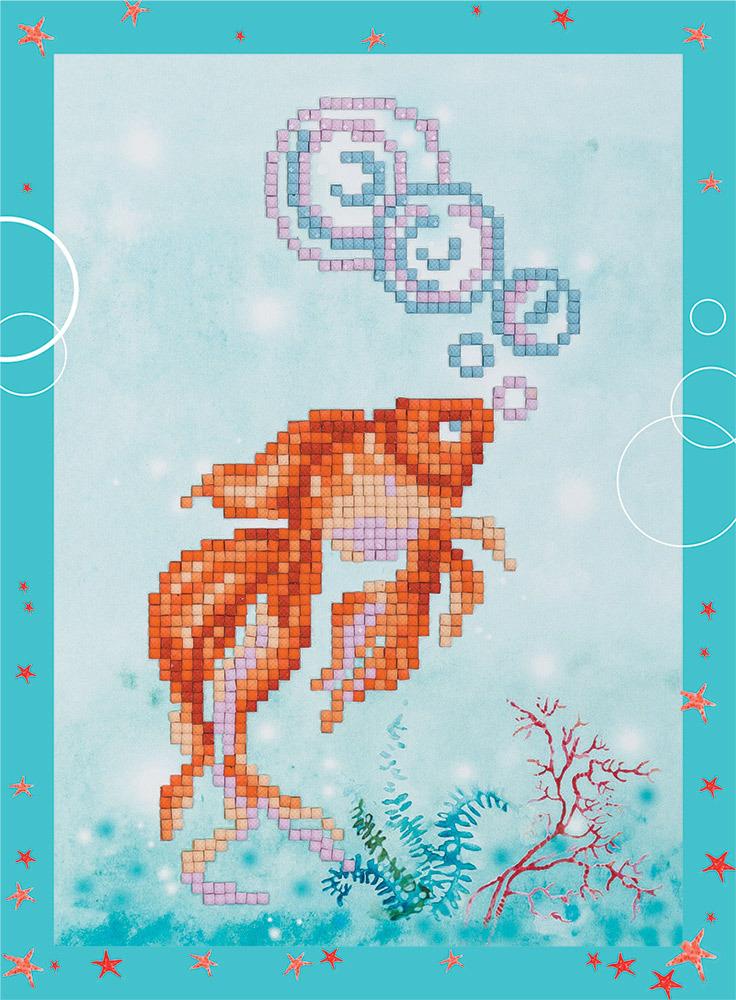 """Алмазная мозаика Фрея """"Золотая рыбка"""", ALVS-016, 19.5 х 14 см"""