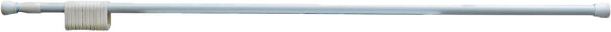 Фото - Карниз для ванной Fora, 230KWK, белый, длина 125-230 см карниз для ванной fora 390kual хром длина 125 390 см