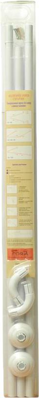 Фото - Карниз для ванной Fora, 390KUW, белый, длина 180-390 см карниз для ванной fora 390kual хром длина 125 390 см