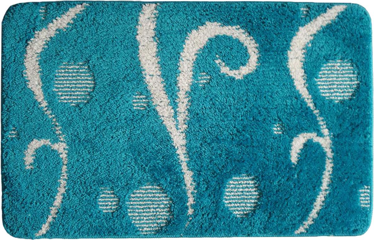 Коврик для ванной Fora Italy, FOR-LD97S, синий, 45 х 75 см fora for 2005