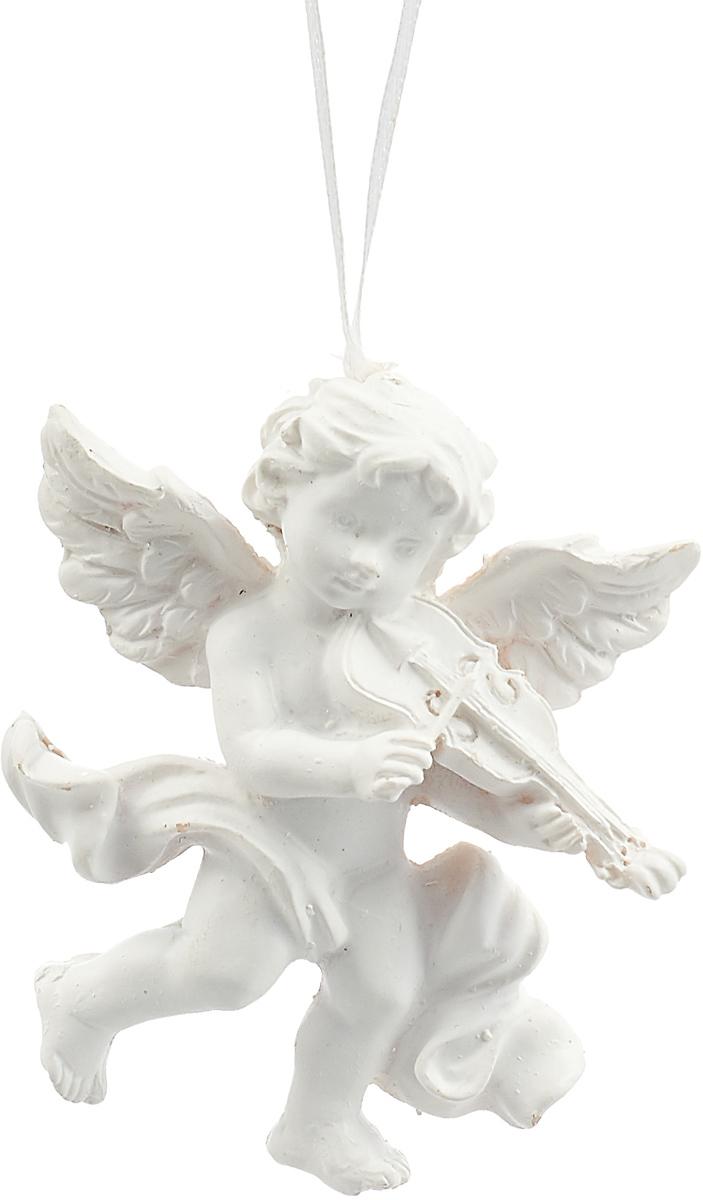 Новогоднее подвесное украшение Magic Time Ангел со скрипкой, 8,5 х 7 х 2,4 см украшение новогоднее подвесное magic time часы в чашке 6 8 х 6 8 х 7 см