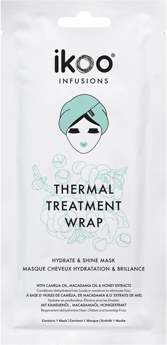 Маска-шапочка Ikoo infusions Thermal Treatment Wrap Hydrate & Shine298814Термальное обертывание маска - шапочка Ikoo Hydrate & Shine - Увлажнение и Блеск предлагает интенсивную терапию для людей с обезвоженными, тусклыми или вьющимися и пористыми волосами. В каждом саше уже есть оптимальное количество состава и полностью готова к использованию. Интенсивный уход за обезвоженными, тусклыми или вьющимися волосами - вы почувствуете эффект с первого применения. Волосы станут более гладкими, блестящими, пропадет эффект пушащихся волос. Термальный эффект от шапочки увеличивает эффект лечебного состава маски в несколько раз и позволяет проникать в самую глубь волоса. В состав маски входят натуральные маска и активные питательные ингредиенты: экстракт ромашки, масло макадамии, экстракт меда и не только. Они обеспечивают глубокое увлажнение и длительный сияющий блеск. Салонный уход за волосами у вас дома. Маска имеет накопительный эффект: в первый месяц рекомендуется использовать 3-4 раза, а далее каждые две недели для поддержания.