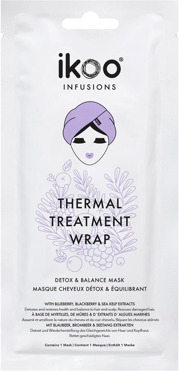 Маска для волос Ikoo Маска-шапочка Thermal Treatment Wrap298852Термальное обертывание маска - шапочка Ikoo «Детокс и Баланс» - это идеальная маска для сильно поврежденных волос, она помогает изможденным волосам и имеет лечебный эффект для раздраженной кожи головы. В каждом саше уже есть оптимальное количество средства, все готово к использованию. Сочетание натуральных активных ингредиентов и высококачественных масел в составе питает и восстанавливает поврежденную структуру волос. Выводит токсины и стабилизирует луковицы волос. Благодаря своей термальной функции, маска увеличивает эффект детоксикации в несколько раз. Природные экстракты восстанавливают первоначальный цвет и блеск волос, уменьшают количество секущихся кончиков. Шелковый блеск и более мягкие волосы с первого применения. Маска имеет накопительный эффект: в первый месяц рекомендуется использовать 3-4 раза, а далее каждые две недели для поддержания эффекта.