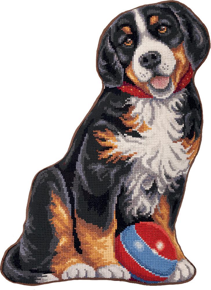 """Набор для вышивания крестом Panna """"Подушка Мой щенок"""", PD-7022, 32 х 42 см"""