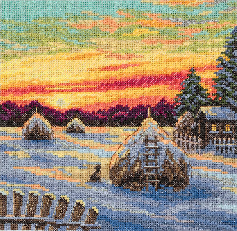 Набор для вышивания крестом Panna Зимние сумерки, PS-7121, 16,5 х 16,5 см набор для вышивания крестом panna благословение успех 27 х 15 см
