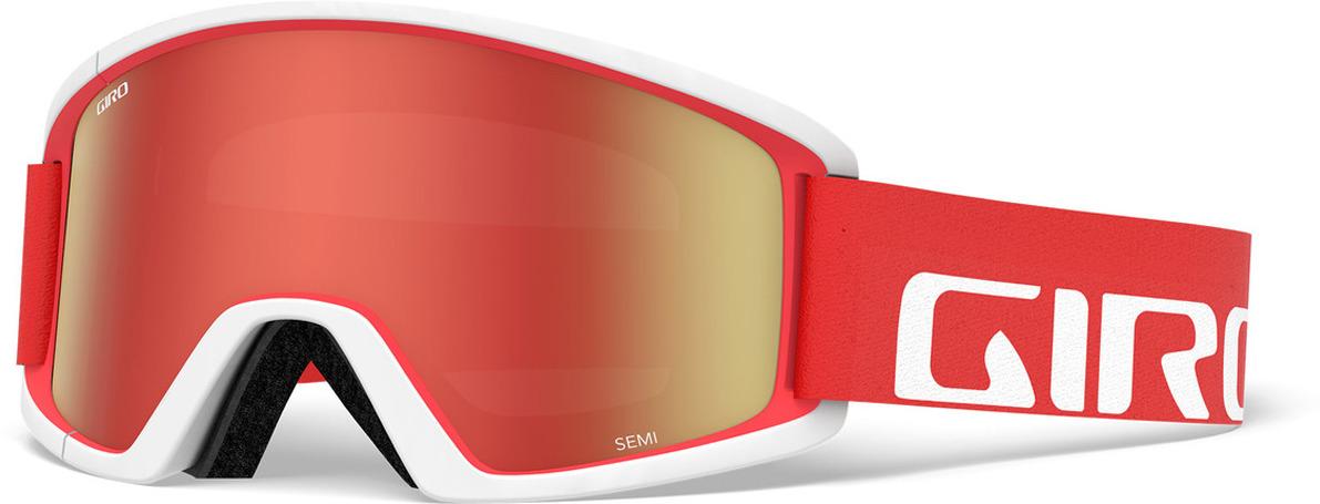 Маска горнолыжная Giro Semi, 7094596, красный, белый все цены