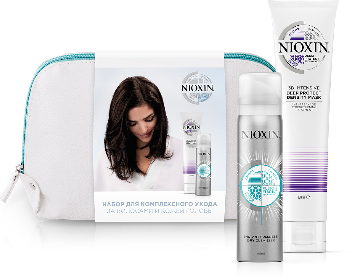 Косметический набор для волос Nioxin Маска для глубокого восстановления волос, 150 мл + Сухой шампунь для волос, 65 мл nioxin 3d styling therm activ protector термозащитный спрей 150 мл
