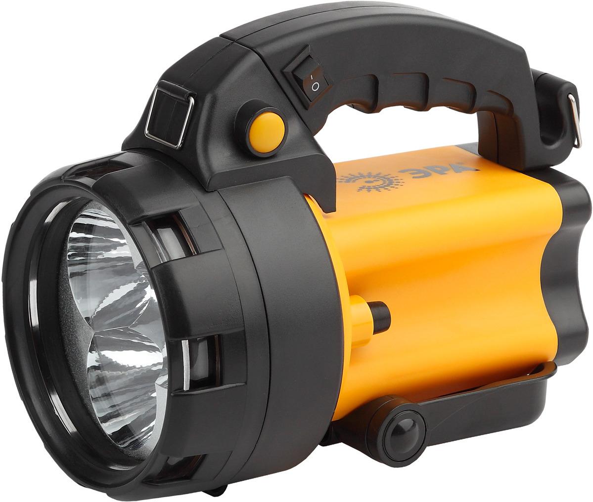 Фара-искатель ЭРА Альфа PA-604, Б0031035, оранжевый, черный, 3 x 1Вт LED SMD эра б0031033 фонарь прожектор pa 602 альфа 19 светодиодов аккумулятор литий 3ач зу 220v 12v