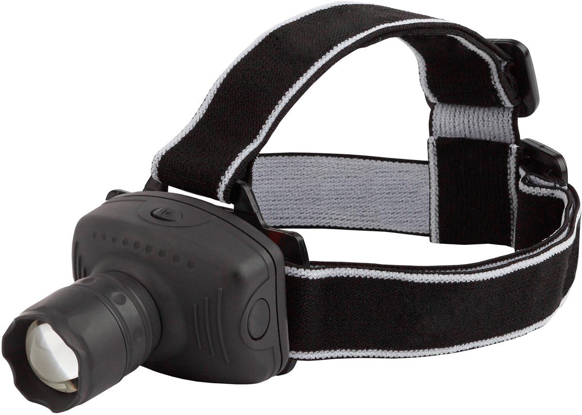 Налобный фонарь Трофи, GB-301, черный, светодиодный, 3 Вт