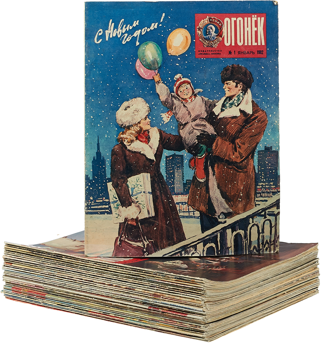 Журнал Огонек за 1982 год (комплект из 33 журналов) отсутствует журнал revolution 53 декабрь 2017