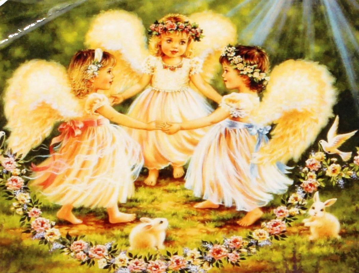 "Картина по номерам Рыжий кот ""Три ангела"", ST042, 30 х 40 см"