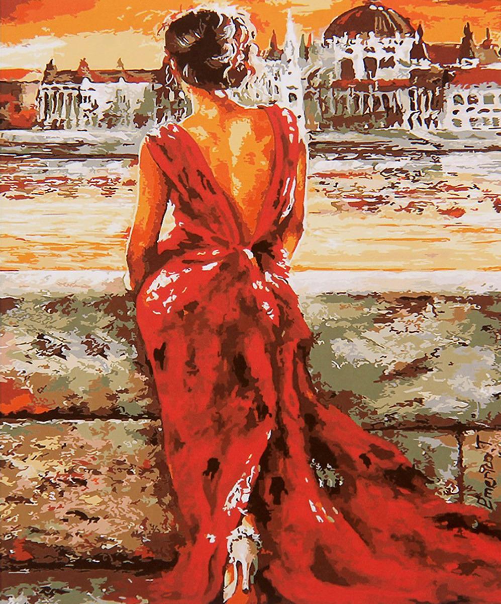 Картина по номерам Школа талантов Женщина в красном, 2461688, 30 х 40 см картина по номерам школа талантов зимний дом 1675811 30 х 40 см