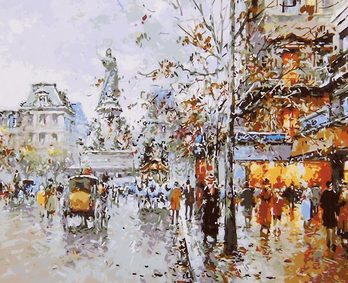 "Картина по номерам Школа талантов ""Осень в городе"", 2461704, 30 х 40 см"