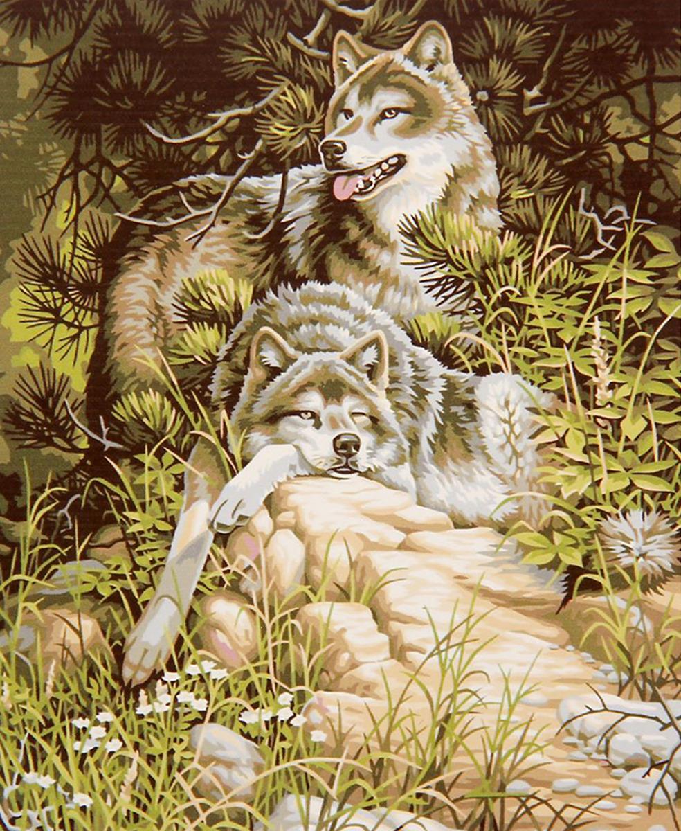 Картина по номерам Школа талантов Отдыхающие волки, 2461705, 30 х 40 см картина по номерам школа талантов зимний дом 1675811 30 х 40 см