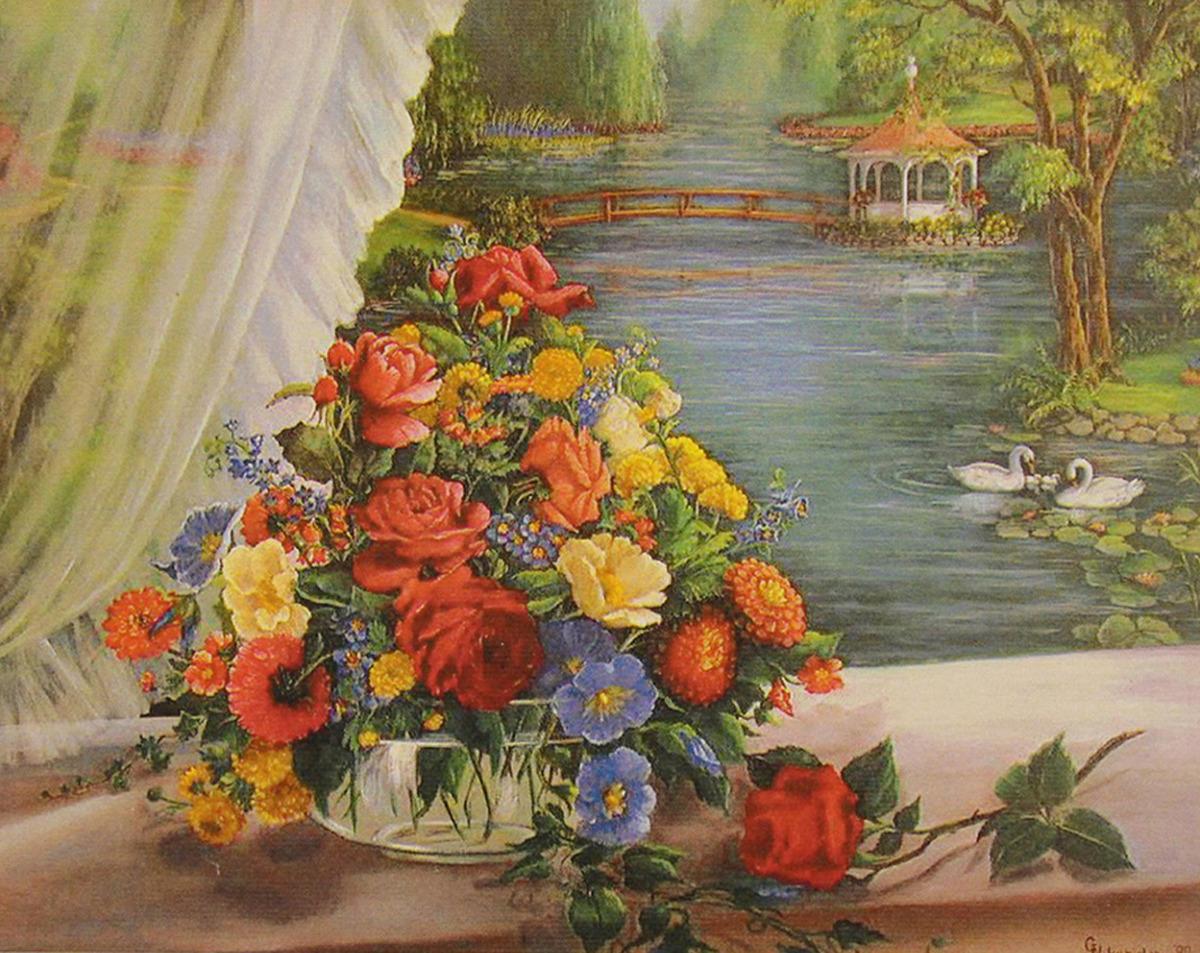Картина по номерам Школа талантов Вид на пруд, 3462690, 30 х 40 см картина по номерам школа талантов зимний дом 1675811 30 х 40 см