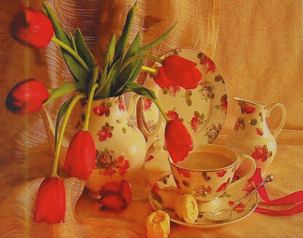 Картина по номерам Школа талантов Красные тюльпаны, 3462713, 30 х 40 см картина по номерам школа талантов зимний дом 1675811 30 х 40 см
