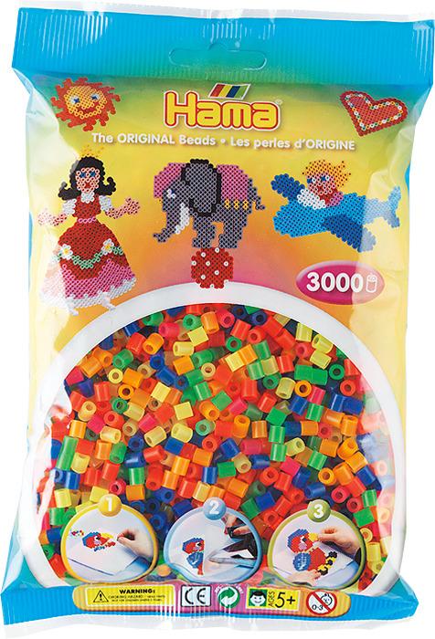 Бусинки для мозаики Hama неоновые цвета, 201-51, 3000 шт блокнот рецепты успешного неоновый желтый