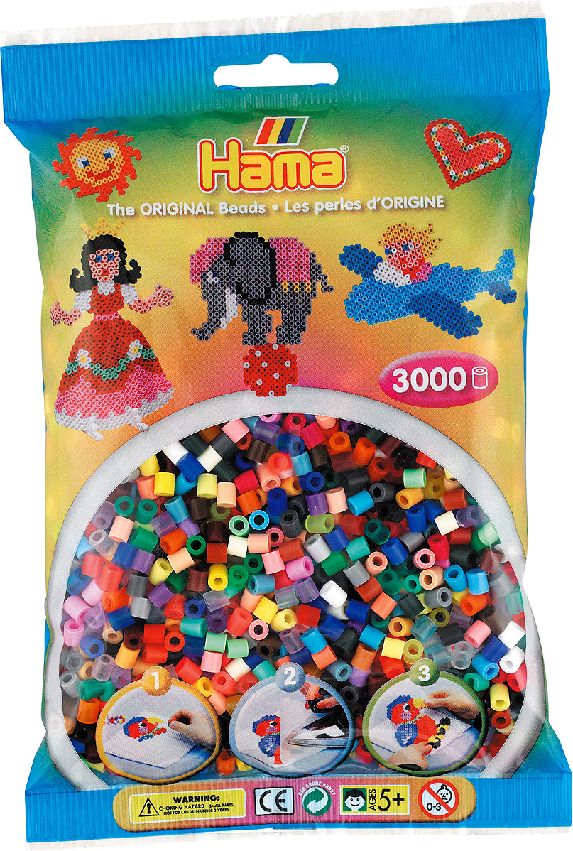 Бусинки для мозаики Hama, 201-68, 3000 шт цена 2017