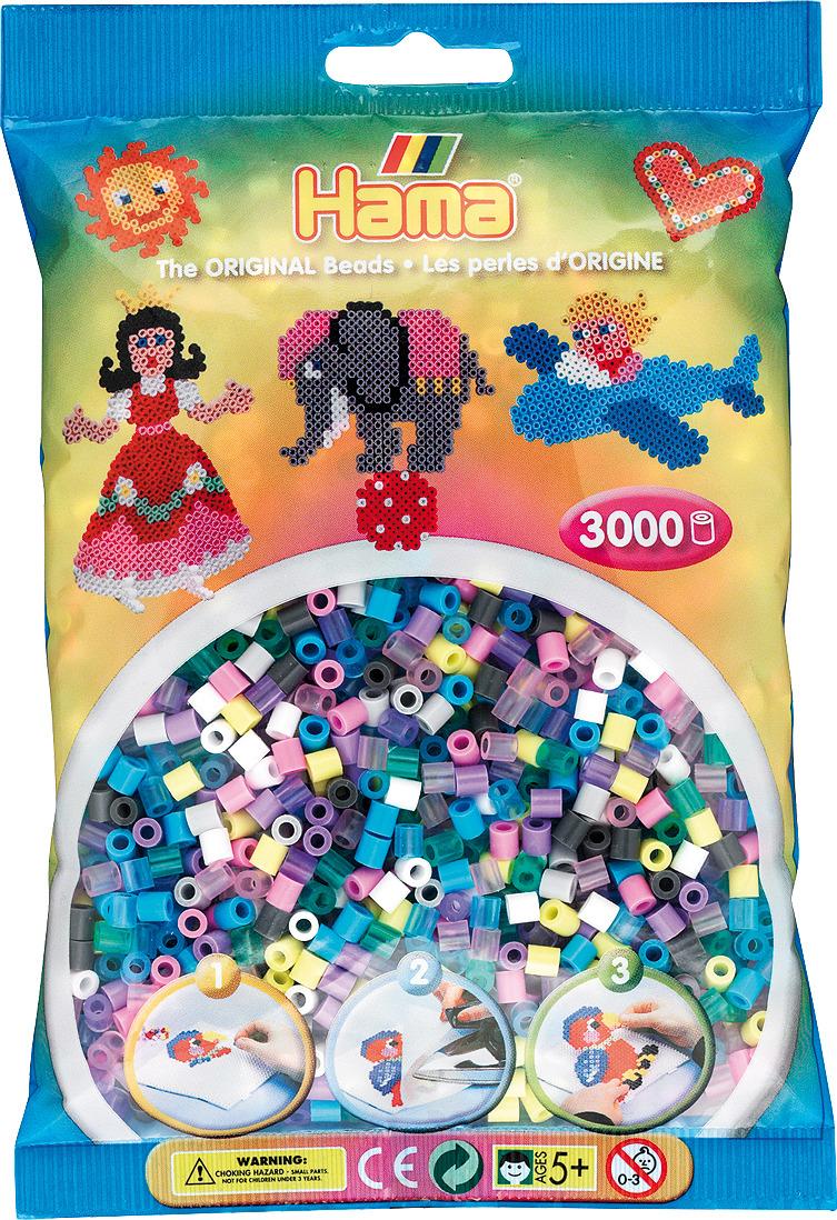 Бусинки для мозаики Hama, 201-69, 3000 шт набор hama mini бусинки для мозаики 2000 шт основа шестиугольник 5507