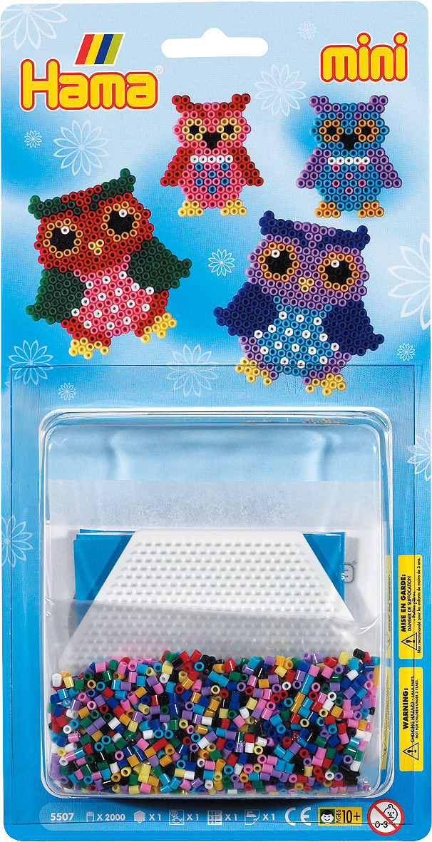Набор Hama Mini бусинки для мозаики, 2000 шт + основа шестиугольник, 5507 набор hama mini бусинки для мозаики 2000 шт основа шестиугольник 5507