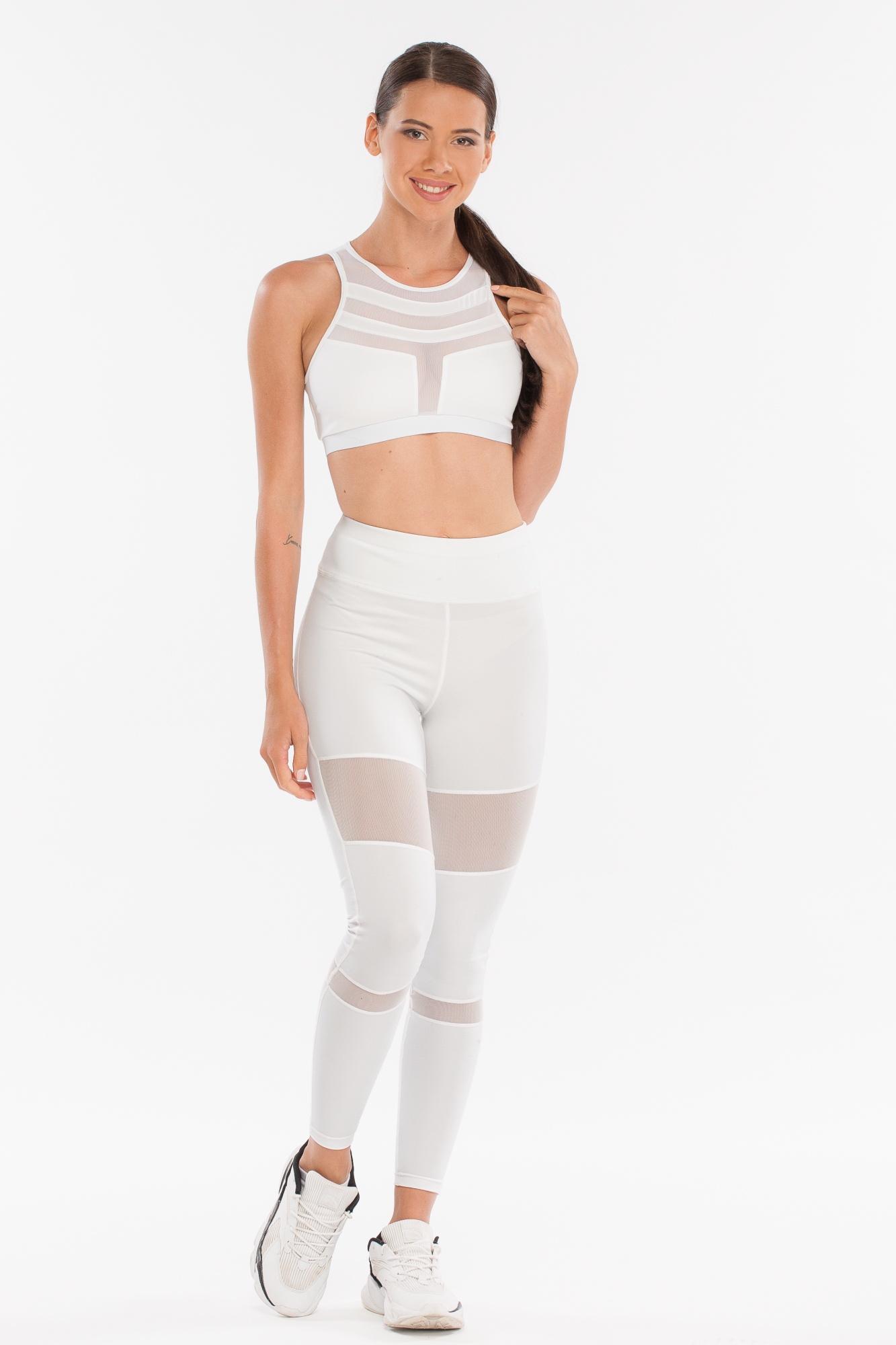 Леггинсы женские Morera, цвет: Белый. Размер 4893058 WHITE (XL)Леггинсы для фитнеса, спорта и бега.
