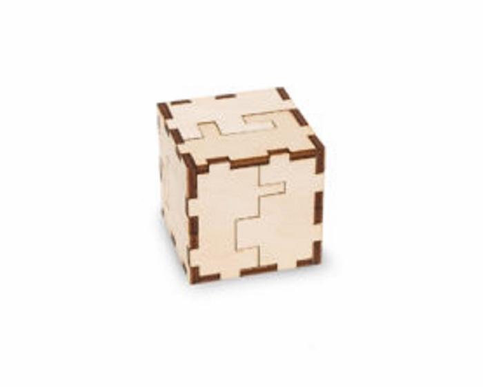 Конструктор-головоломка 3D Eco Wood Art Cube Puzzle, WCe, дерево головоломка magic cube 002610