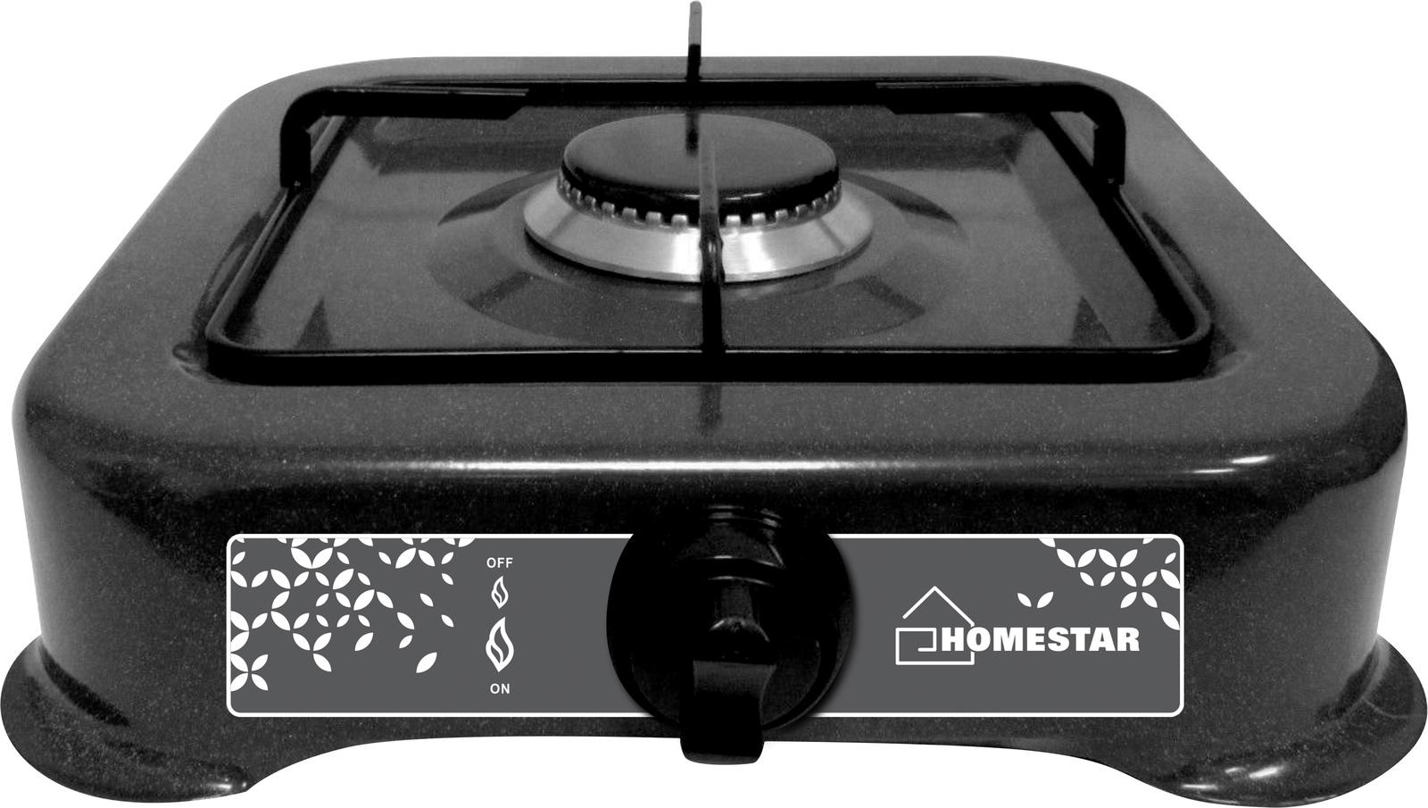 лучшая цена Плита газовая Homestar HS-1201 настольная одноконфорочная, 54 003698, черный