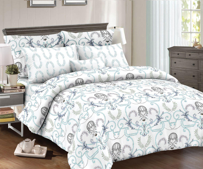 цена Комплект постельного белья Seta Azalea Satin Balloon 019132297, евро, наволочки 70x70 см онлайн в 2017 году