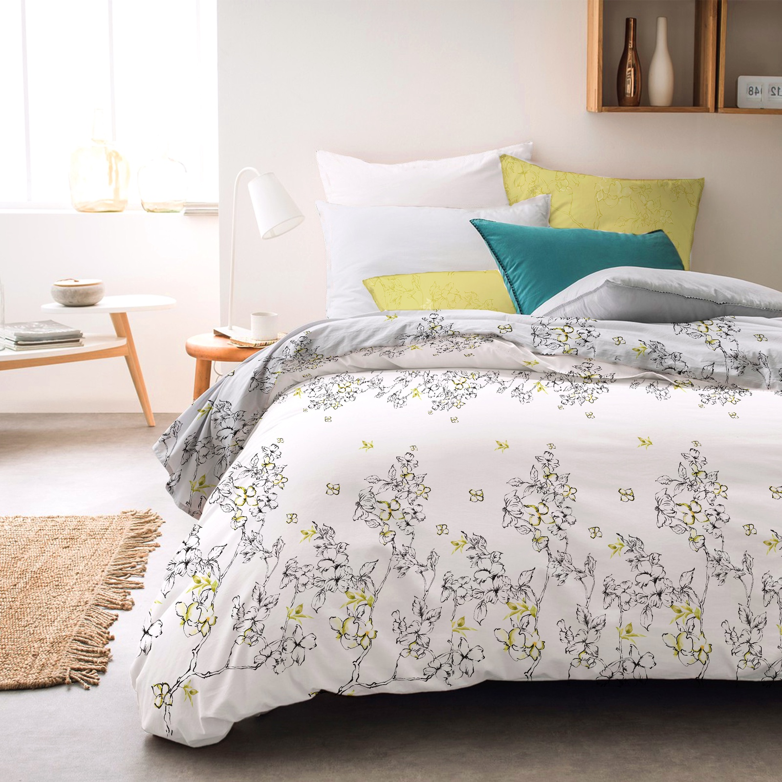 цена Комплект постельного белья Seta Azalea Satin Falena 019132285, евро, наволочки 70x70 см онлайн в 2017 году