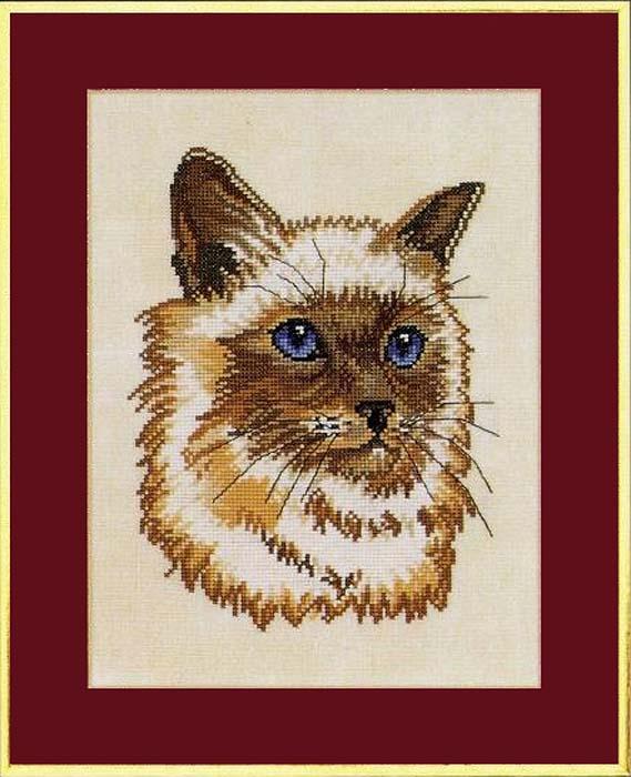 """Набор для вышивания крестом Eva Rosenstand """"Персидский кот"""", 28 x 35 см"""