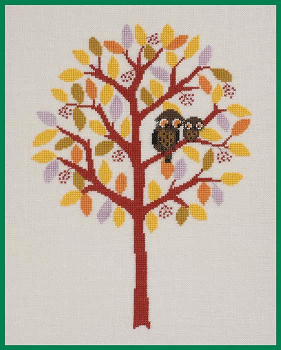 """Набор для вышивания крестом Eva Rosenstand """"Осень. Времена года"""", 32 х 37 см"""