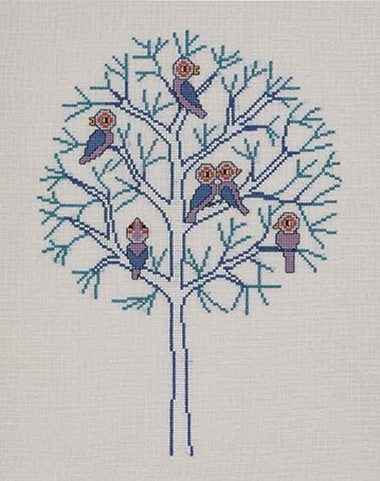 """Набор для вышивания крестом Eva Rosenstand """"Зима. Времена года"""", 32 х 37 см"""