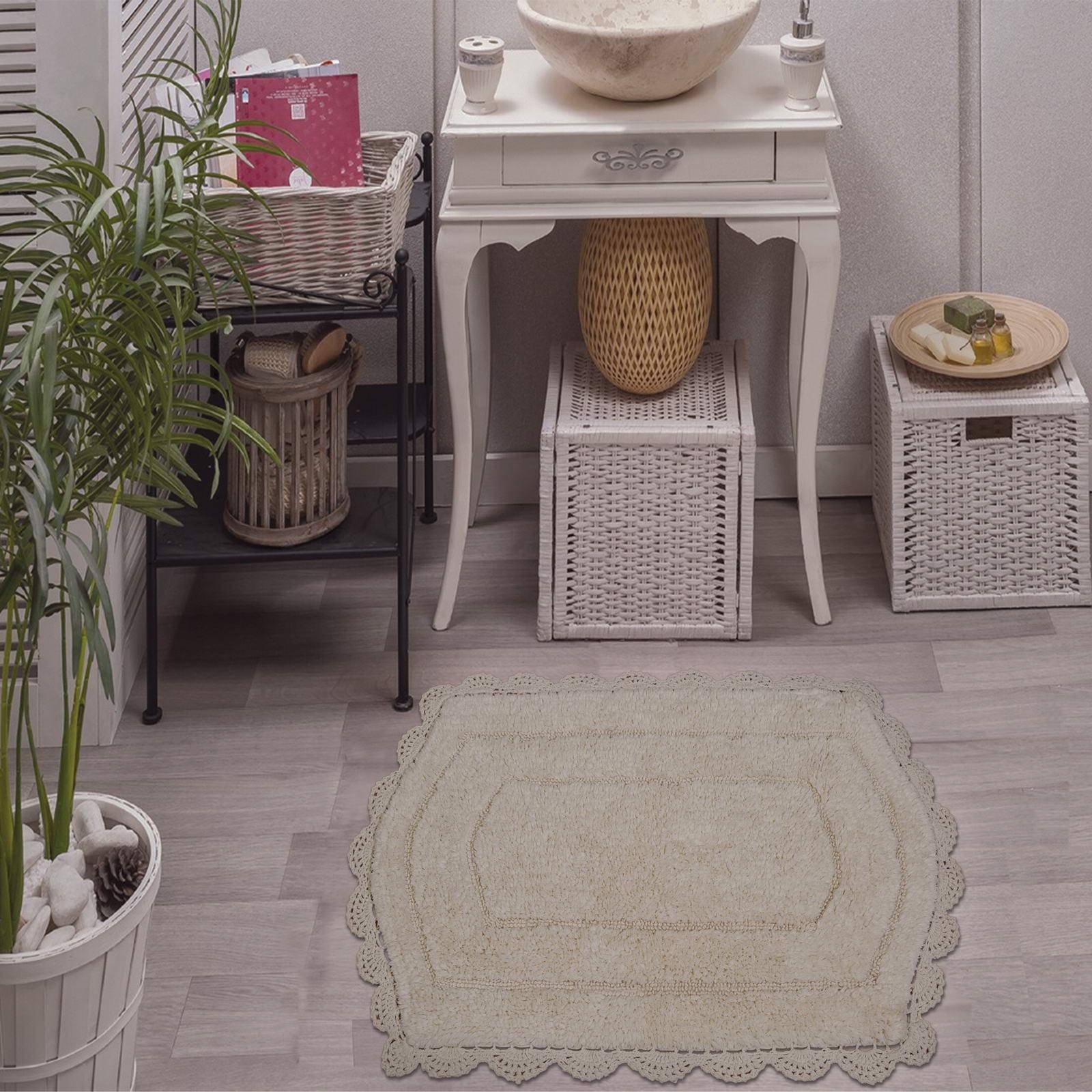Коврик для ванной Sofi de Marko Белла, крем, 50х70 смS.070крем-50х70Махровый коврик для ванной комнаты от Sofi De Marko. Размер-50х70см. Рекомендуется стирать при температуре 30с.