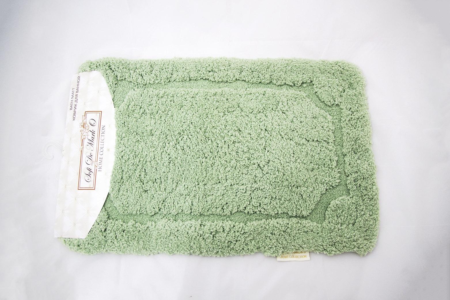 Коврик для ванной Sofi de Marko, К-Э-зел-50х80, зеленый, 50х80 см