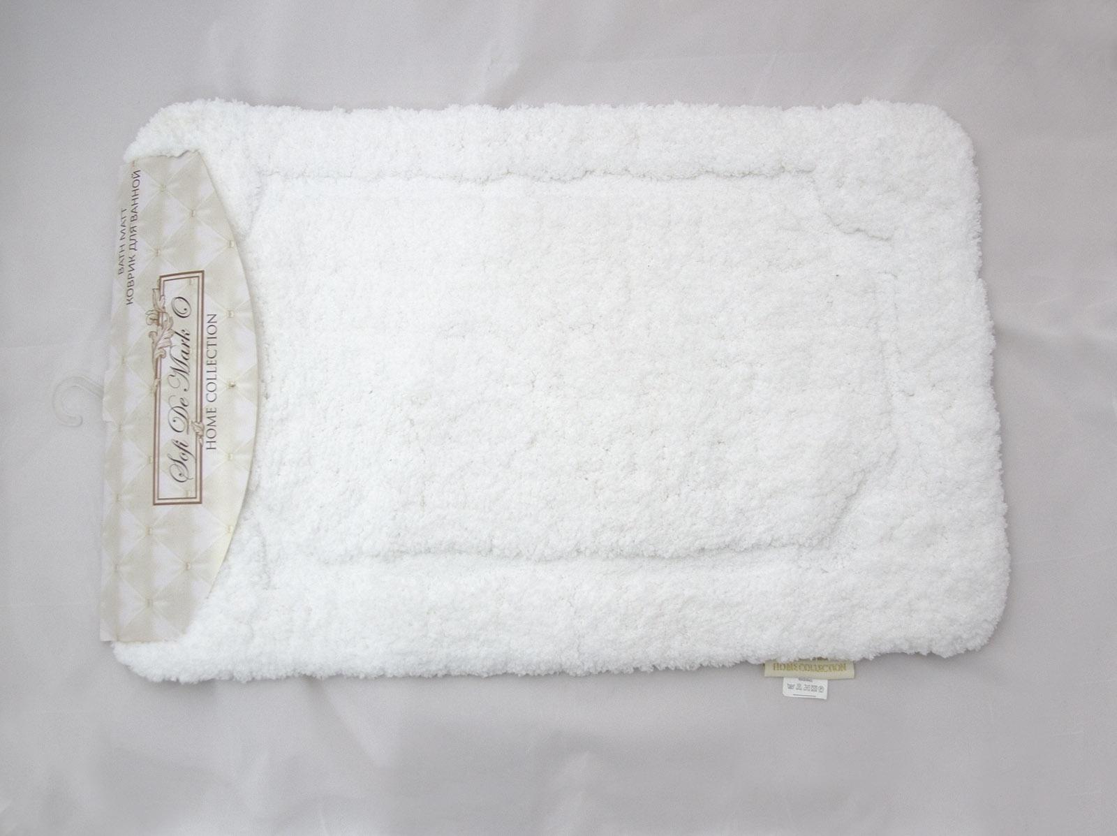 Коврик для ванной Sofi de Marko, К-Э-бел-50х80, белый, 50х80 см