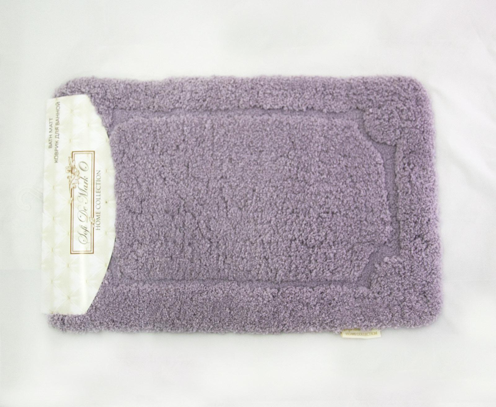 Коврик для ванной Sofi de Marko, К-Э-фиолет-50х80, фиолетовый, 50х80 см