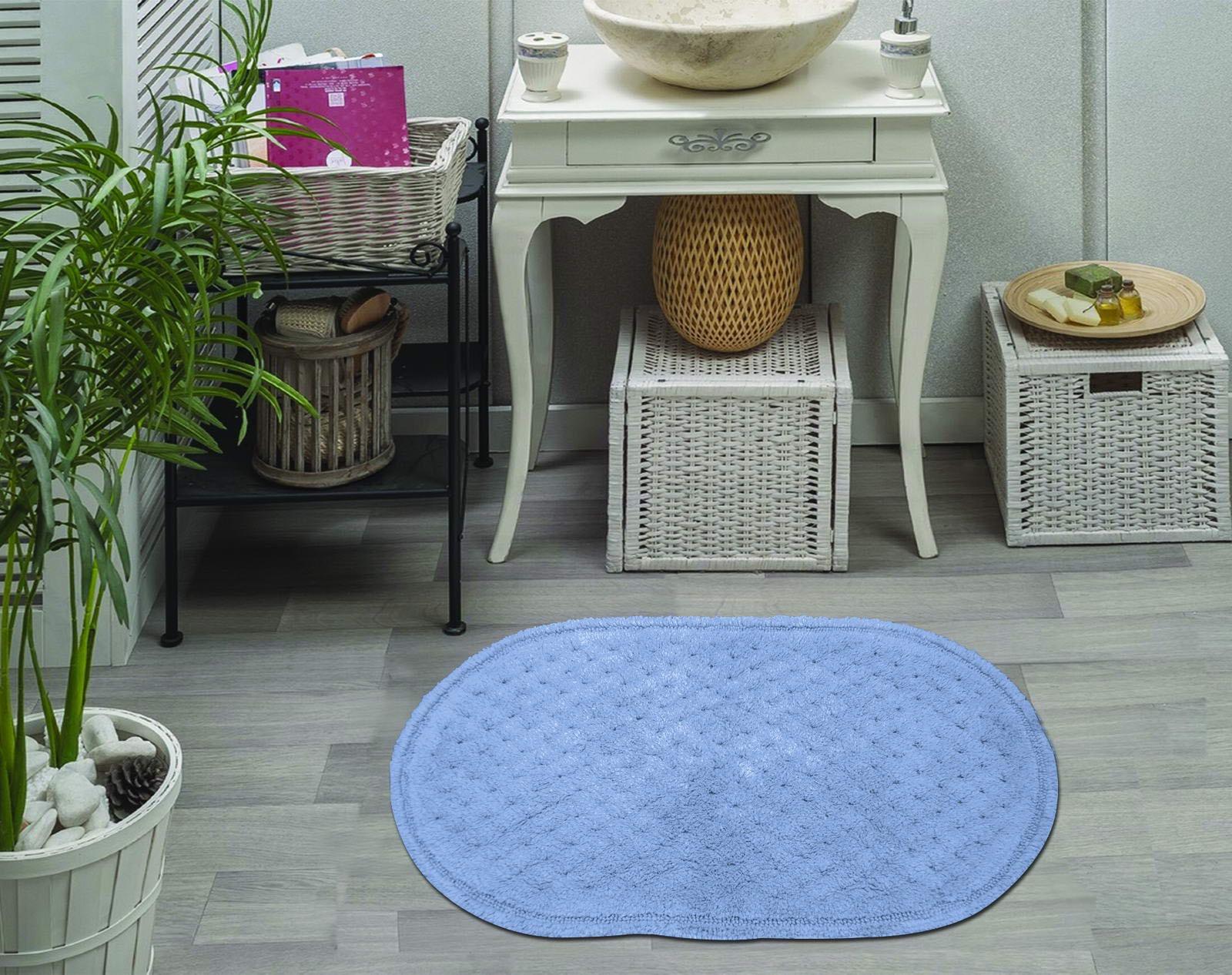 Набор ковриков для ванной Sofi de Marko, S.179, синий, 2 шт