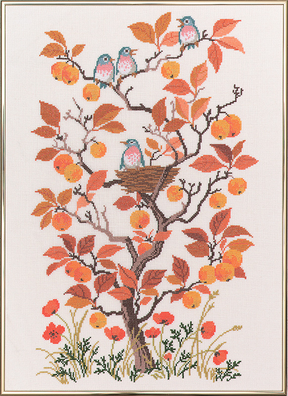 """Набор для вышивания крестом Eva Rosenstand """"Осень"""", 40 х 55 см"""