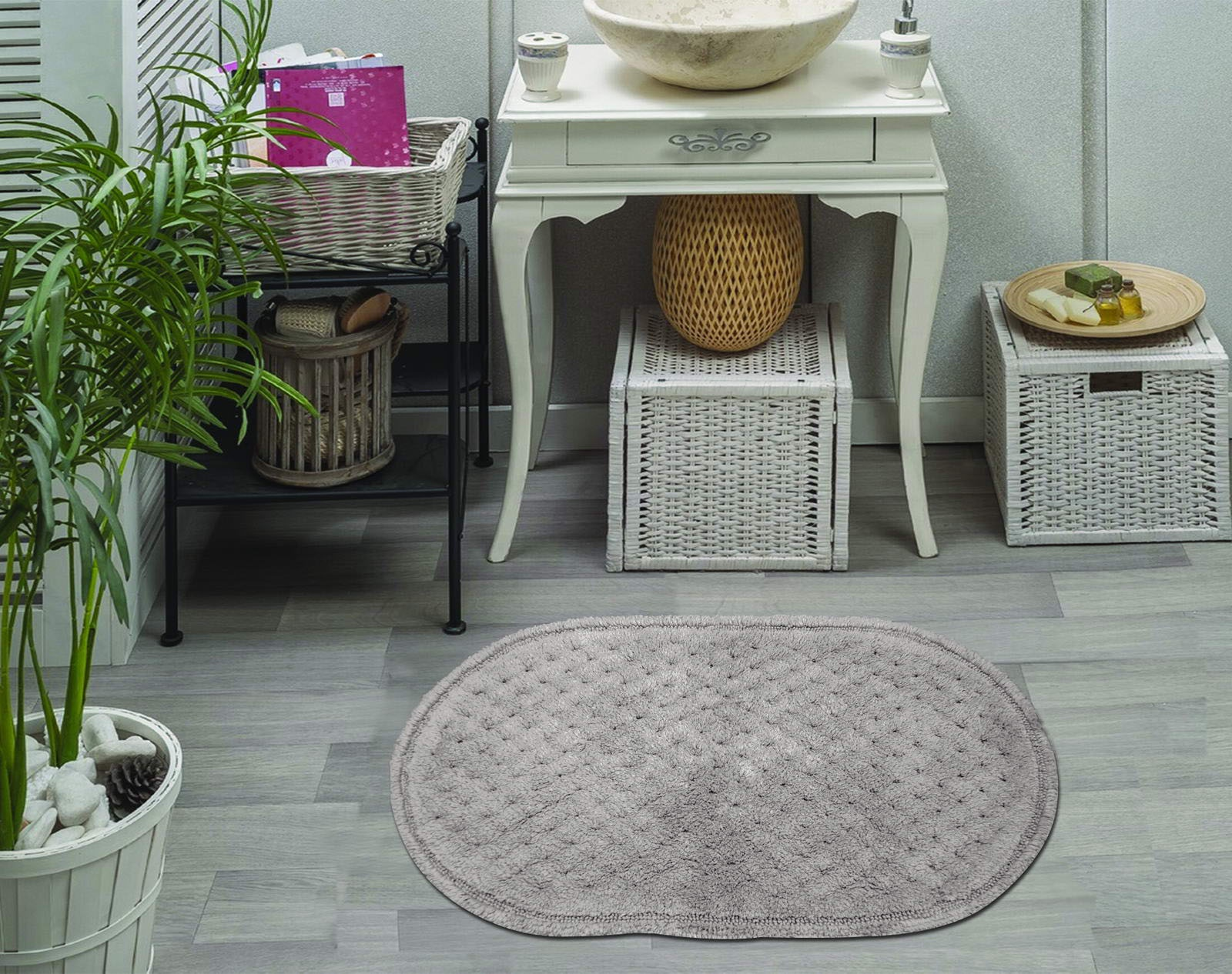 Набор ковриков для ванной Sofi de Marko, S.173, серый, 2 шт