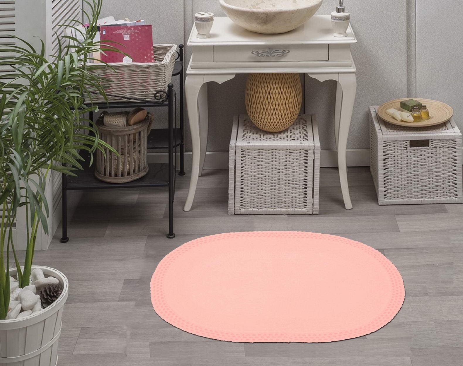 Коврик для ванной Sofi de Marko, S.122, розовый, 60х100 см